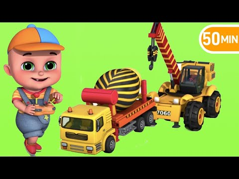 Construction Vehicles, Excavator, Wheel Loader, Mixer Truck, Garbage Trucks, Tow Truck~!  TOYS