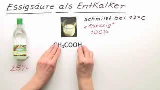 ESSIGSÄURE ALS ENTKALKER | Chemie | Organische Verbindungen – Eigenschaften und Reaktionen