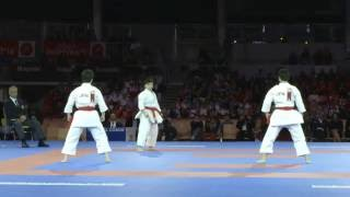 Highlights of the gold medal quest of Female Team Kata at Karate World Championships