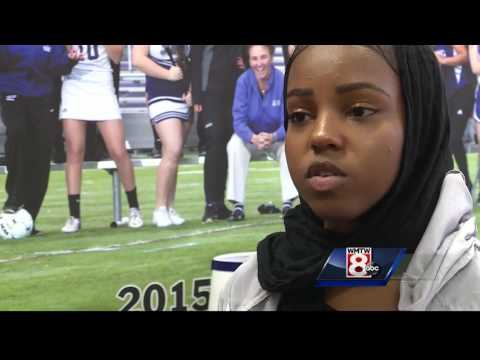 Deering High School offers hijabs for sports
