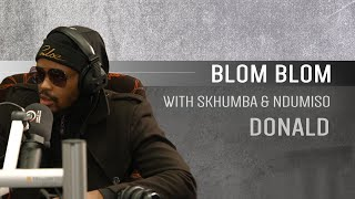 Donald on Blom Blom with Skhumba and Ndumiso