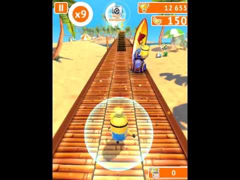 Гадкий Я! Minion Rush! Серия 29! Пляж Миньонов Классный забег! Игра Миньоны или Миньон Раш!