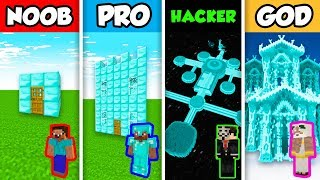 Minecraft NOOB vs PRO vs HACKER vs GOD : DIAMOND HOUSE in Minecraft Animation!