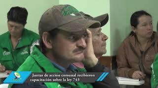 Juntas de acción comunal recibieron capacitación sobre la ley 743