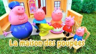 Peppa Pig et George: apprendre les animaux en français. Vidéo pour enfants
