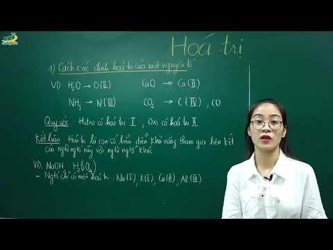 Hóa Học Lớp 8 – Bài 10 Hóa trị lớp 8   Cô Nguyễn Thị Kiều Anh