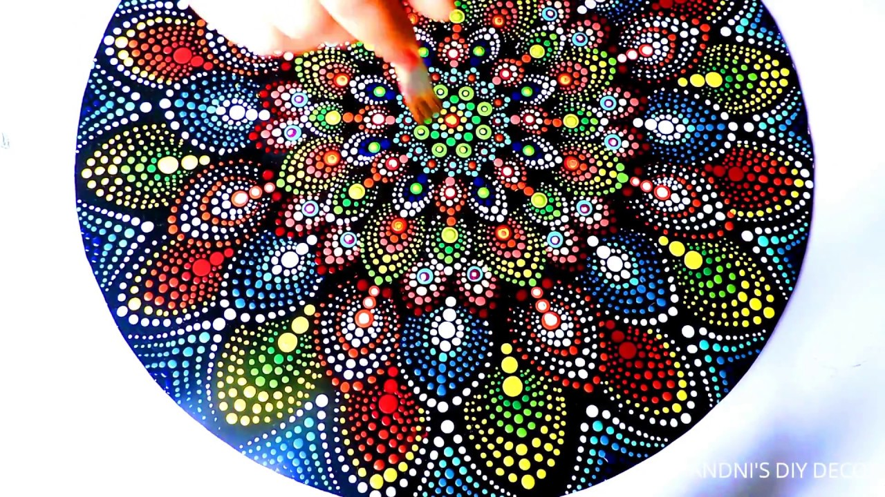 Mandala Dot Art Painting Without Dotting Tool Diy Simple Easy