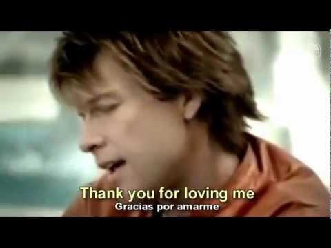 Bon Jovi Thank You For Loving Me Subtitulado Inglés & Español