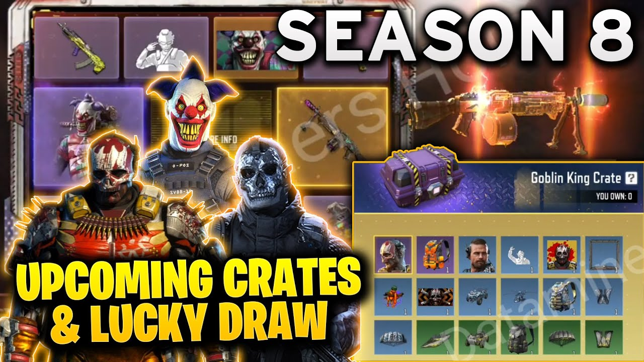 SEASON 8 UPCOMING CRATES & LUCKY DRAW - CALL OF DUTY MOBILE (COD Mobile)