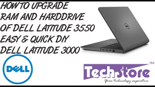 Dell Latitude 3550 How to upgrade ram harddrive battery easy and quick DIY battery replacement