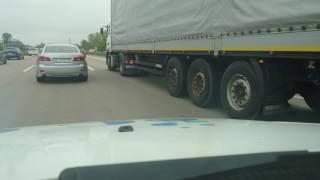 LKW Unfall auf der A2  zwischen Irxleben und MD Kannenstieg