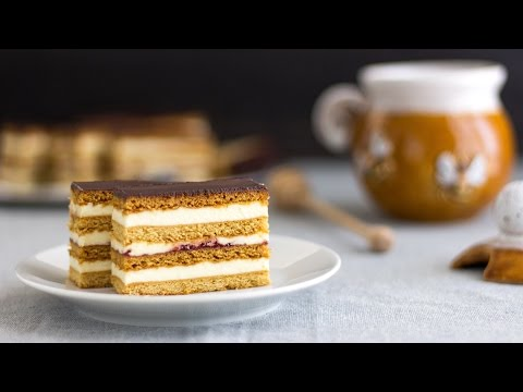Honey Cake Slices - Slovakian Petit Fours Recipe | HappyFoods Tube