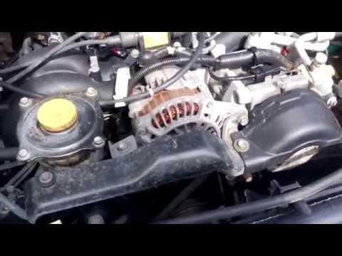 Subaru Forester шум двигателя