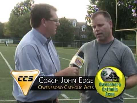 CCS Coach's Corner with Owensboro Catholic High School Football Coach John Edge  (08/19/13).