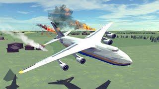 Airplane Crashes \u0026 Shootdowns #18 Feat. Newly Built An-124 | Besiege
