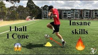 1 Ball | 1 Cone | INSANE SKILLS!! | Joner 1on1