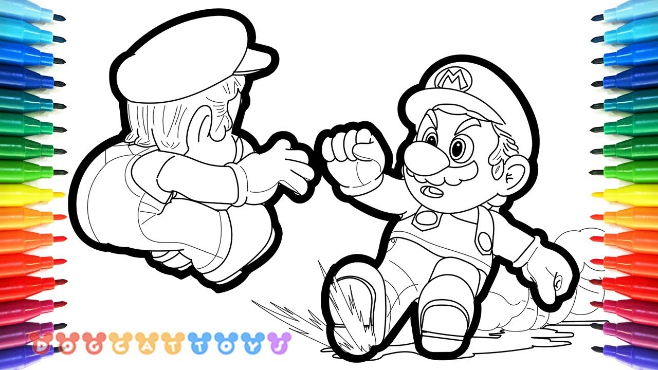 How to Draw Mario Odyssey Mario Luigi 56 Drawing Coloring