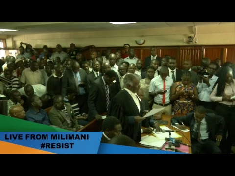 Attending court session following High Court Order for release of Dr. Miguna Miguna