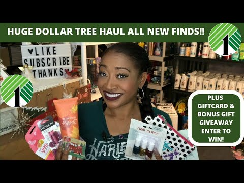 HUGE DOLLAR TREE HAUL|ALL NEW FINDS|PLUS GIFT CARD GIVEAWAY & BONUS GIFTS 🎁 ENTER TO WIN 😍
