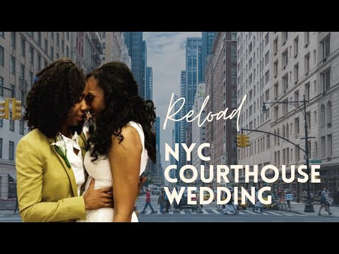 Camille and Desiree | Lesbian New York Courthouse Wedding | Black Girls Rock