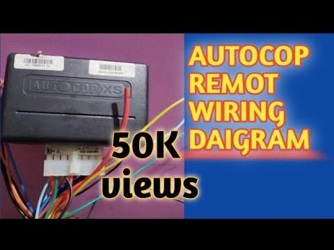 Autocop remote center lock wiring daigram - YouTubeYouTube