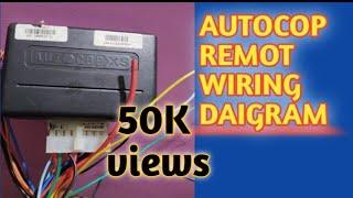 Autocop remote center lock wiring daigram