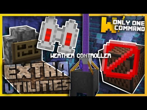 Minecraft - Extra Utilities Mod with Only One Command Block! (Plenty new Useful Tools)