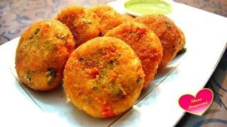 Rava Cutlet | Suji ke Cutlet | Upma Cutlet | Veggie Upma Cutlet | Snack Recipe | Breakfast recipe