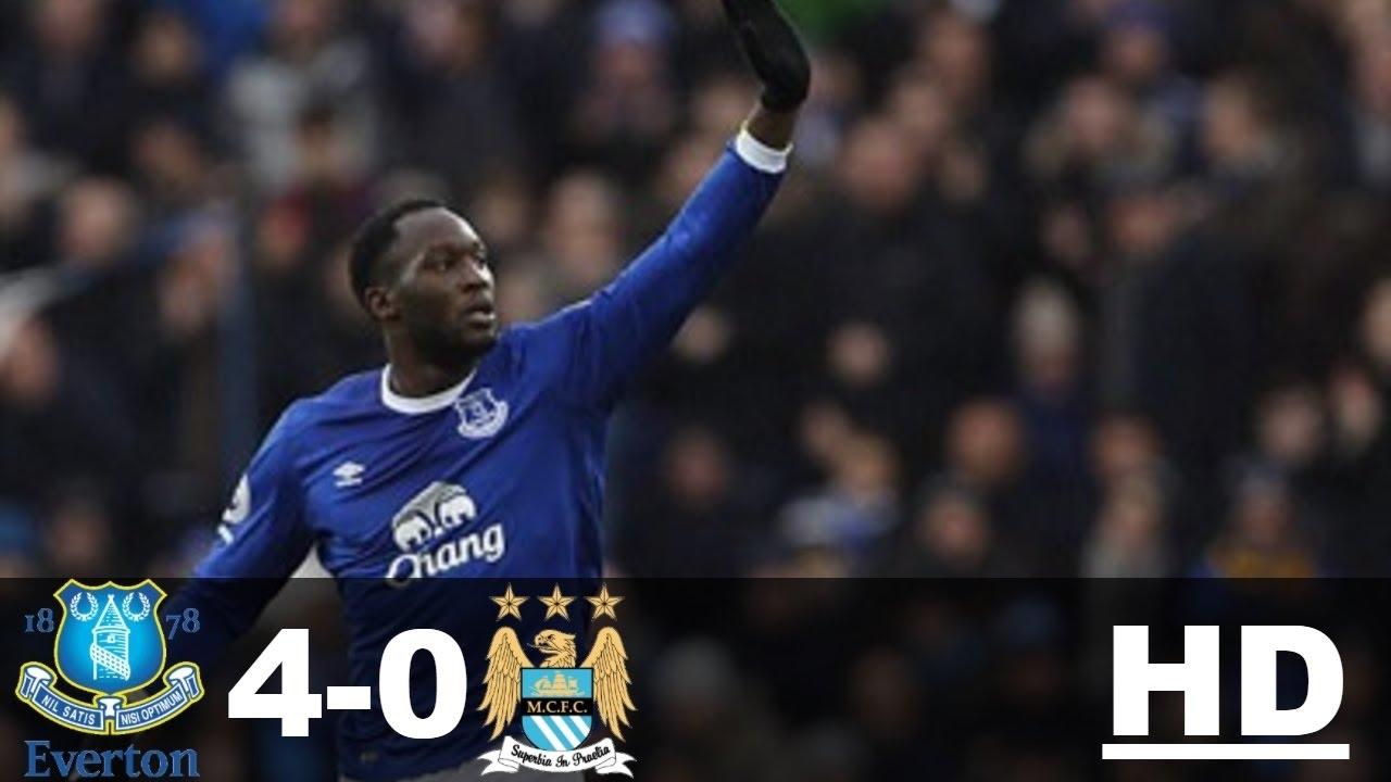 Hightlight Everton 4 0 Man City Youtube