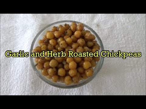 Garlic and Herb Roasted Chickpeas