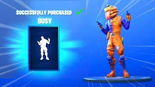 'NEW' BUSY EMOTE AND SKINS (Fortnite Item Shop 4 novembre) - BUSY EMOTE