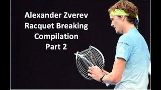 Alexander Zverev Racquet Breaking Compilation Part 2