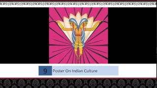 Poster On Indian Culture And Heritage