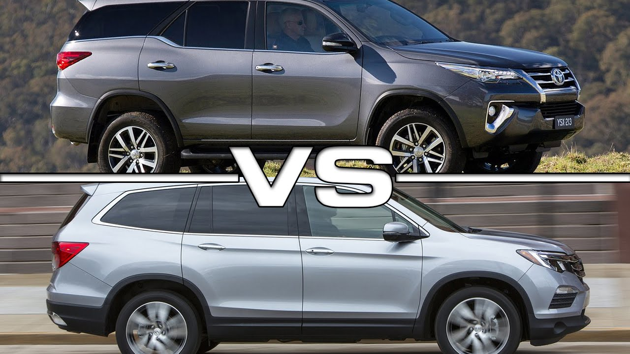 2016 toyota fortuner vs 2016 honda pilot youtube for Honda crv vs toyota highlander