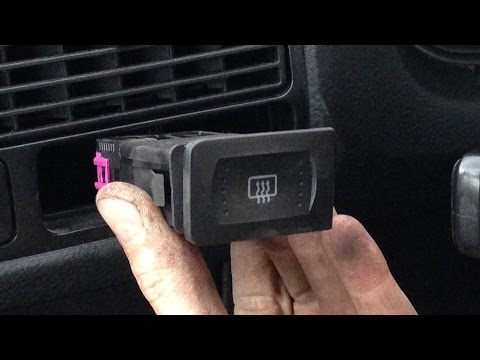 Vw Golf Mk4 How To Remove Replace Rear Screen Demister