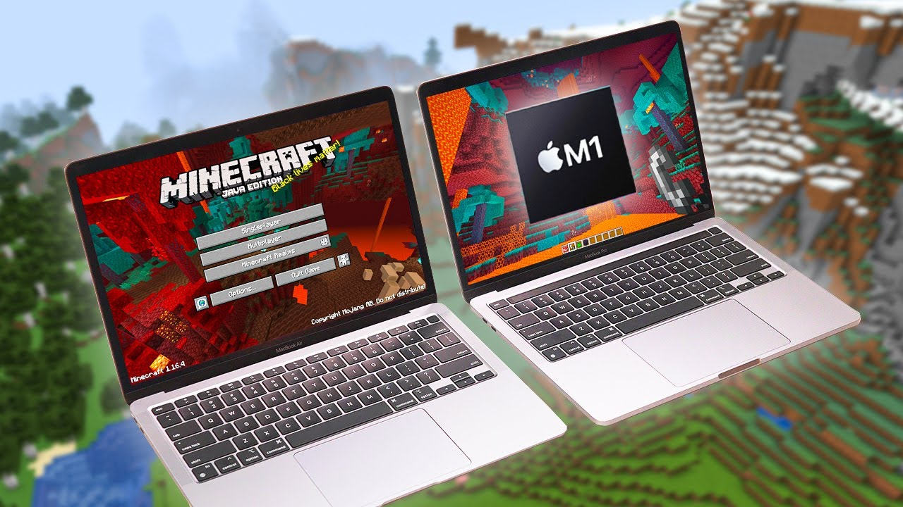 MacBook Air M100 + MacBook Pro M100 // Can They Run Minecraft?! (Gaming Test)