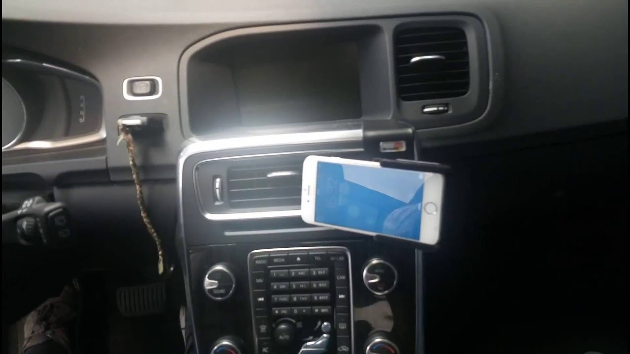 Brodit telefoonhouder iPhone 6 - Volvo V60 - YouTube