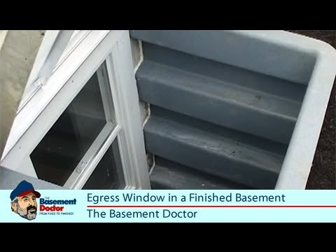 Egress Windows Finished Basement Bedroom Emergency Exit