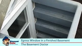 Egress Windows | Finished Basement Bedroom | Emergency Exit | Basement Doctor Columbus OH