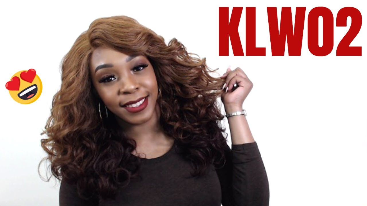 Harlem 125 Kima Synthetic Hair Deep Curved Part Lace Wig Klw02