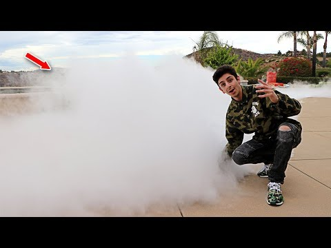1,000 POUNDS OF DRY ICE IN MY POOL CHALLENGE!! (SUPER CRAZY) | FaZe Rug
