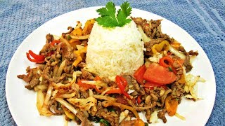 Lomo Saltado With Hash Browns - Traditional Peruvian Recipe With More Flavor And  A Twist