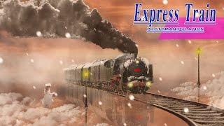Snow Express Train -Photo  Manipulation-Photoshop CC