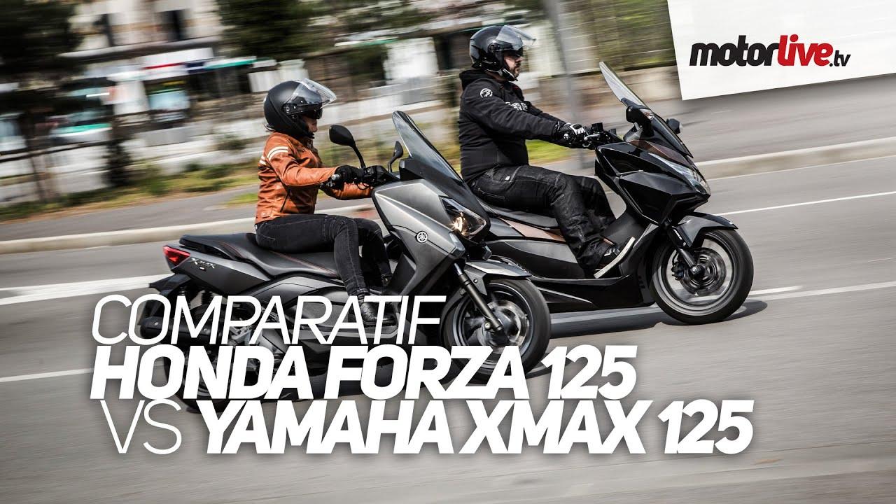 Duel Honda Forza 125 Vs Yamaha X Max 125 Youtube