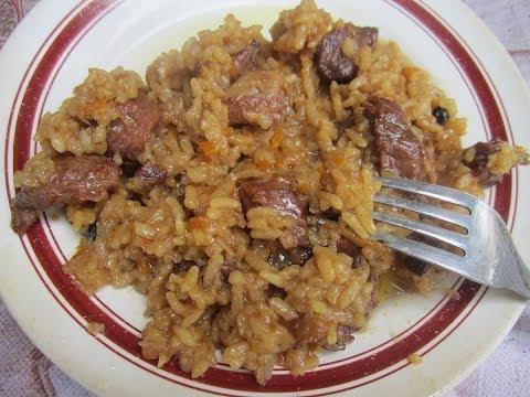 Рисовая каша с мясом рецепт! А-ля плов.