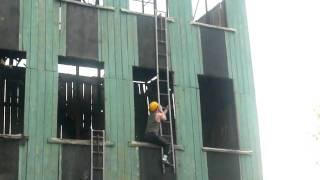 Саша на пожарных учениях в Барнауле.MOV