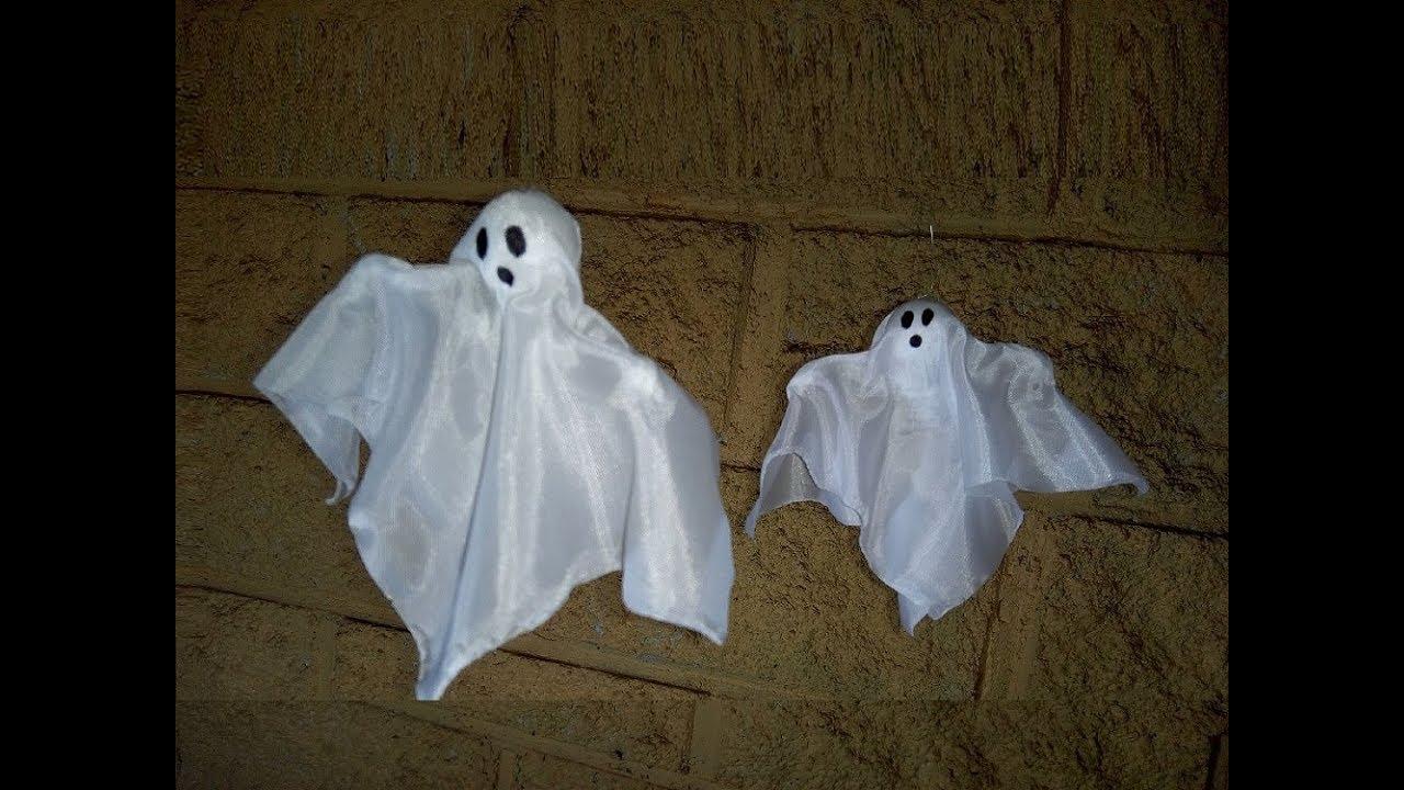Como Hacer Un Fantasma Fácil Para Decoración Halloween Youtube