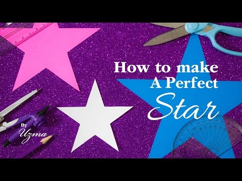 How To Make a Perfect Star | Paper star
