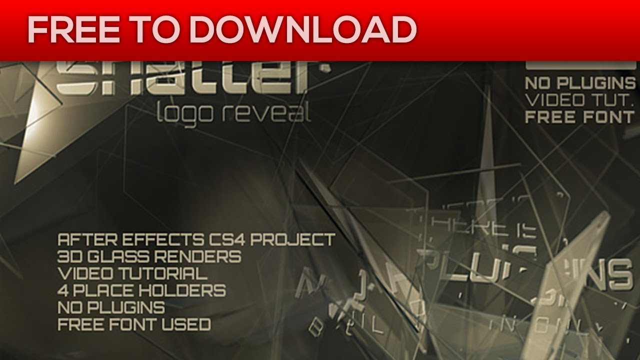The Shatter 104762 | After Effects Template | Free Download - YouTube