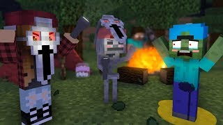 Monster School Kids: Camp Spooky Night! - Minecraft Animation